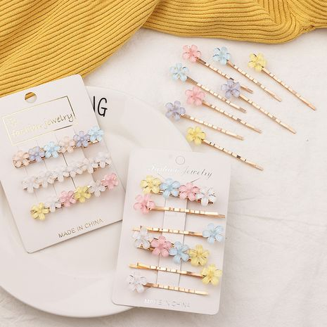 Sweet crystal flower children's  side clip set  NHNU243386's discount tags