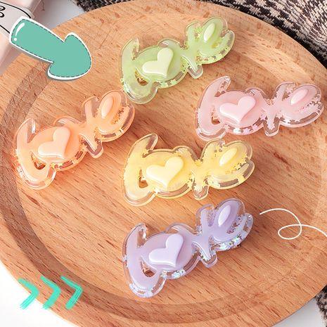 sweet  cute  cute LOVE letter  fashion side clip  NHNU243393's discount tags