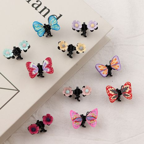 South Korea butterfly  small flower baby hairpin set NHNU243394's discount tags