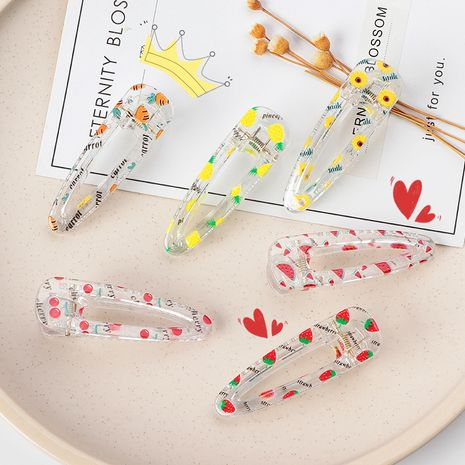 new candy color transparent hairpin NHNU243395's discount tags