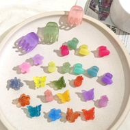 Children's  sweet candy color princess small catch clip mixed color mini hair clip set  NHNU243398