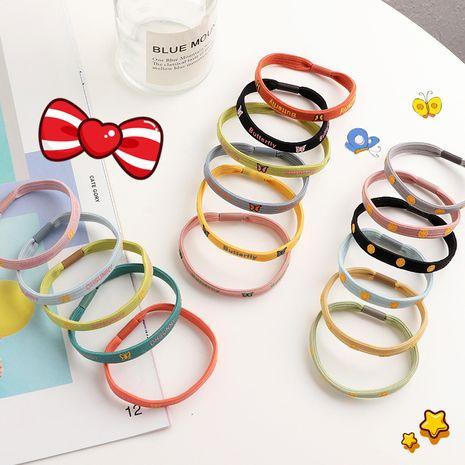 Rubbe de cuerda de cabeza de niños rosa simple de Corea del Sur NHNU243399's discount tags