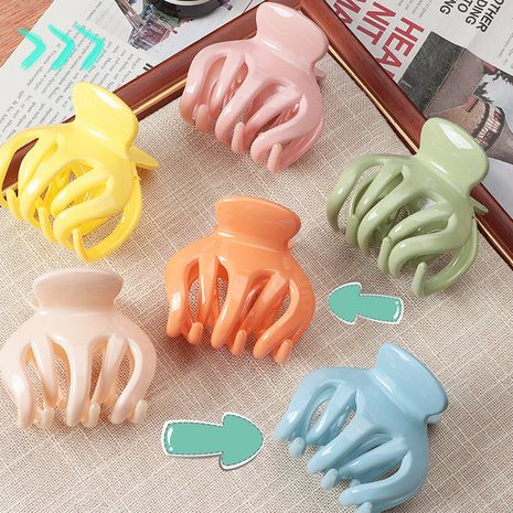kid's big catch clip simple fall resistant catch clip candy color ponytail clip wholesale NHNU243400's discount tags
