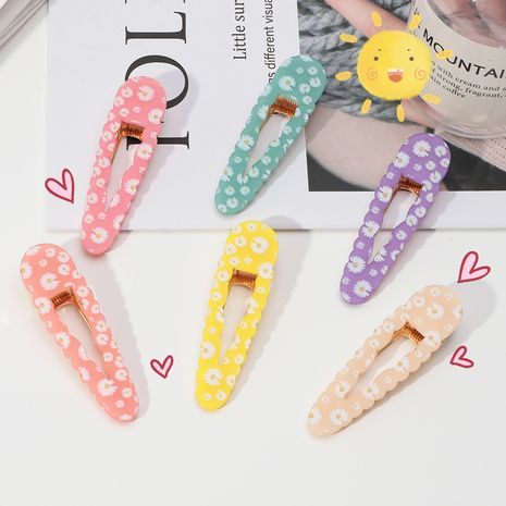 daisy geometric printing acetate hairpin cute sweet children duckbill clip wholesale nihaojewelry NHNU243409's discount tags