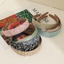 Korean flower widebrimmed  floral simple  headband wholesale nihaojewelry NHNU243413