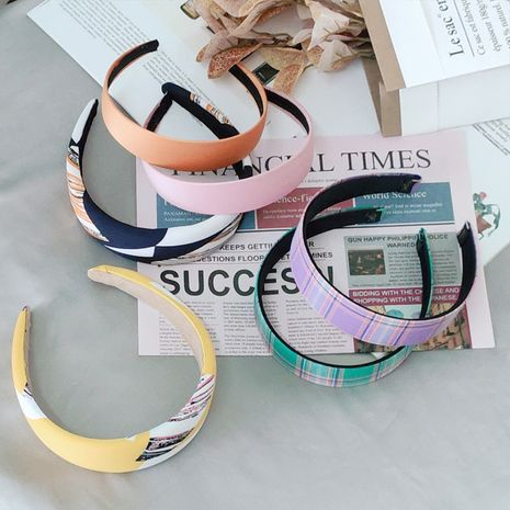 Korean fabric printing children's  headband wholesale  NHNU243416's discount tags