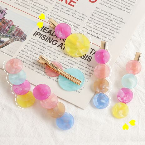 summer new acrylic children crystal shiny hairpin wholesale nihaojewelry NHNU243417's discount tags