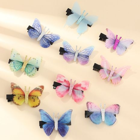 10pcs hot style bow hairpin fabric bright pink color children's hairpin wholesale nihaojewelry NHNU243418's discount tags
