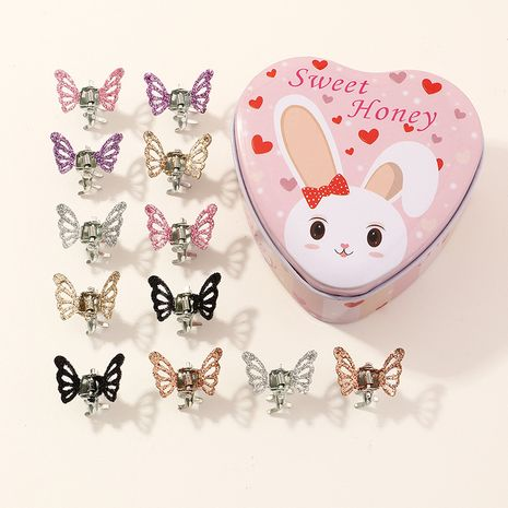 Children's butterfly small cute  catch clip  wholesale nihaojewelry NHNU243421's discount tags