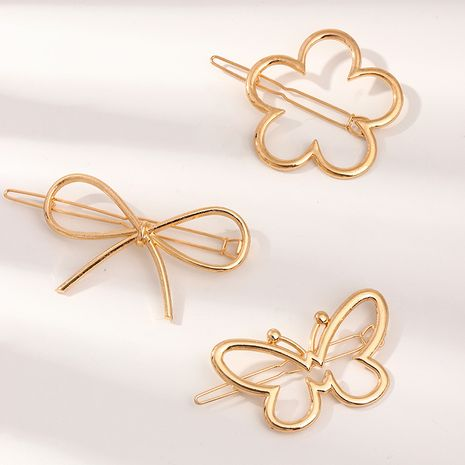 alloy hairpin round moon triangle hairpin side clip wholesale nihaojewelry NHNU243425's discount tags