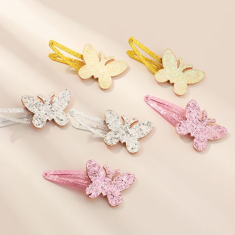 fashion  bow  edging bright pink color duckbill clip set  NHNU243428's discount tags