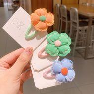 Korean flowers hairpin  simple style t cute side bangs clip NHSA243437