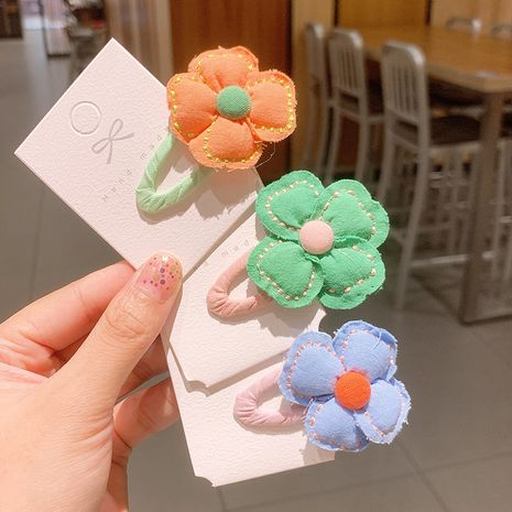 Korean flowers hairpin  simple style t cute side bangs clip NHSA243437's discount tags