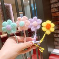 Korean  early autumn felt adjustable concave shape sunflower  children's  clip  NHSA243439