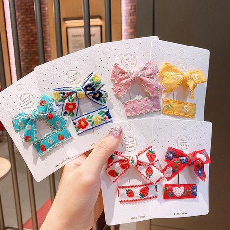 Cartoon bow  Korea cute hairpin NHSA243441's discount tags