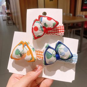 New  Korean color cherry bow fashion simple pillow hairpin  NHSA243445
