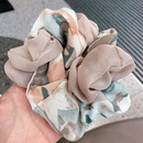 New Korean style braided color matching floral chiffon bow tie hair scrunchies wholesale nihaojewelry NHHI243446