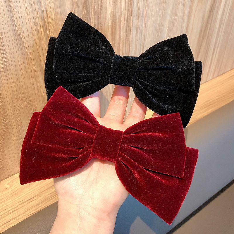 Velvet big bow  Korean hairpin clip  wholesale  NHDQ243449