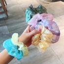 Korean maiden large intestine  organza tie hair scrunchies  wholesale nihaojewelry NHDQ243450