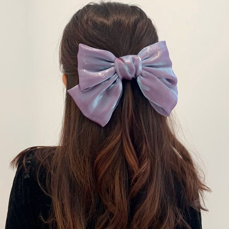 French pearl satin bow  hairpin wholesale  NHDQ243455