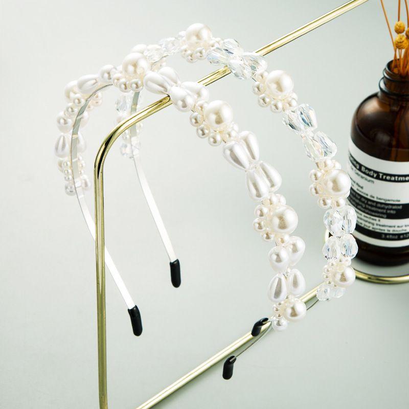 Korean hot selling crystal pearl headband simple fashion headband wholesale  NHLN243466