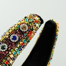 Moda diadema de esponja de ala ancha mujeres llenas de diamantes de imitacin diadema al por mayor nihaojewelry NHLN243467