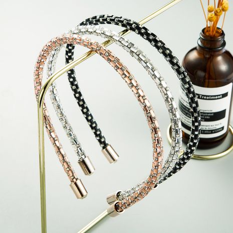 Korea's exquisite full diamond narrow fashion simple headband wholesale  NHLN243468's discount tags