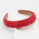 New simple style fashion crystal rice beads hair band bridal wholesale NHWJ243470