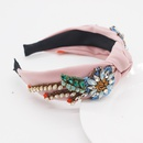 New Baroque Crystal Fabric Geometry Beautiful headband  wholesale  NHWJ243471
