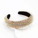 sponge pearl diamond gemstone rhinestone ladies headband  wholesale nihaojewelry NHWJ243473