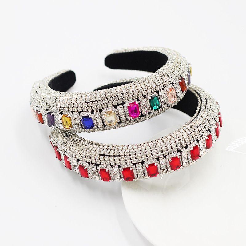 full of diamonds and gemstones Baroque palace diamond-studded headbands wholesale nihaojewelry NHWJ243475