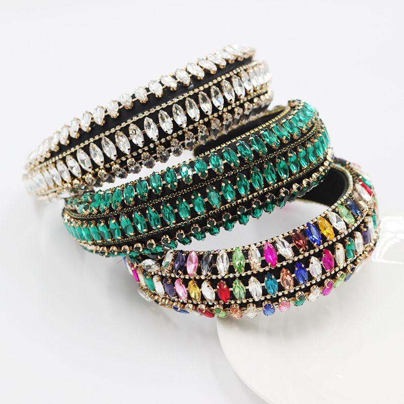 New Baroque style Sponge Diamond Gemstone Headband wholesale nihaojewelry NHWJ243476