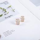new S925 silver needle geometric fashion Korean alloy earrings  NHQS243482