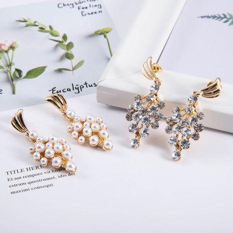 nouvelles boucles d'oreilles en alliage simple diamant perle de raisin de mode NHQS243483's discount tags