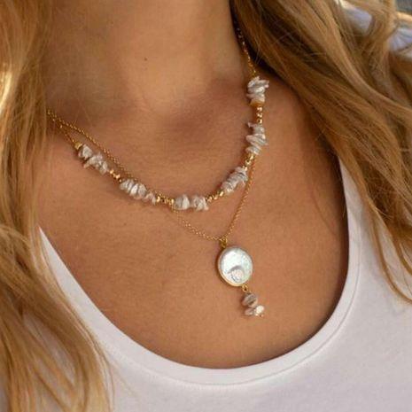 Collier tout-assorti perlé irrégulier simple de mode pour les femmes NHCT243495's discount tags