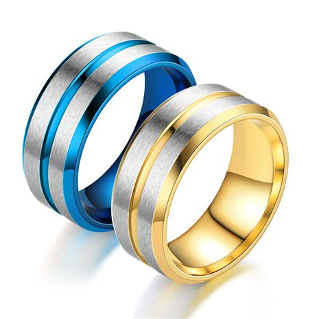 new double beveled side blue gold ring wholesale nihaojewelry NHTP243497's discount tags