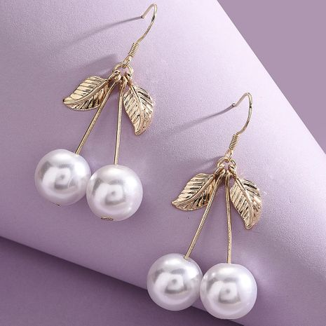 All-match fashion pearl earrings alloy leaf earrings NHMD243749's discount tags