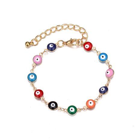 Forme la nueva pulsera colorida de la aleación del ojo del demonio en forma de pez de la flor del ojo NHOA243501's discount tags