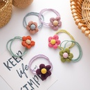 Korean flower corduroy early autumn candy color hair rubber band hair scrunchies wholesale nihaojewelry NHMS243531