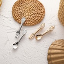 fork spoon hairpin headdress side clip bangs clip wholesale nihaojewelry NHMS243544