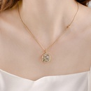 Twelve Constellation gift Guardian Sexy short alloy Clavicle Chain Necklace  NHPP243568