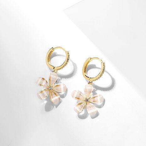 elegant sweet simple flower earrings new fairy ear buckle wholesale nihaojewelry NHPP243571's discount tags