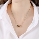 Fashion digital short trend sexy romantic elegant simple alloy clavicle chain necklace  NHPP243573