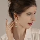 925 silver needle exaggerated geometric simple fashion elegant  sexy long earrings wholesale  NHPP243574