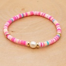 summer natural baroque pearl woven colored clay bracelet for women NHGW243577