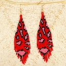 hot fashion rice beads woven leopard fringe earrings wholesale nihaojewelry NHGW243579
