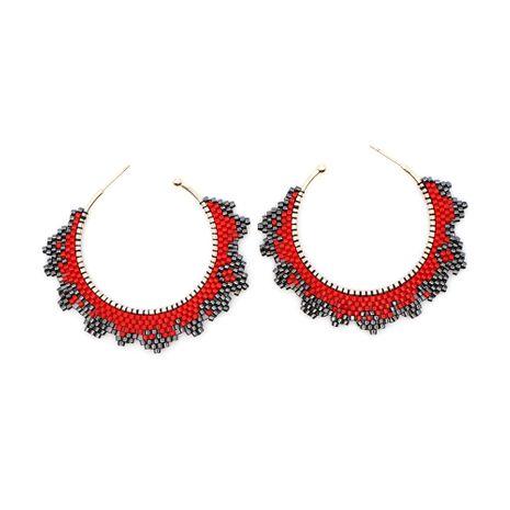 fashion Miyuki rice bead weaving big circle geometric earrings wholesale nihaojewelry NHGW243581's discount tags