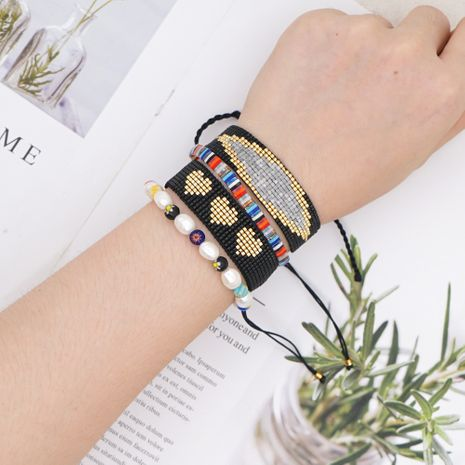 fashion natural pearl rice beads hand-woven eye ethnic style bracelet for women NHGW243588's discount tags