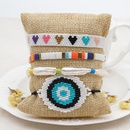 fashion natural pearl rice beads handwoven eyes ethnic style bracelet NHGW243591