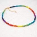 niche design rainbow bead fashion necklace for women jewelry hotsaling NHGW243593